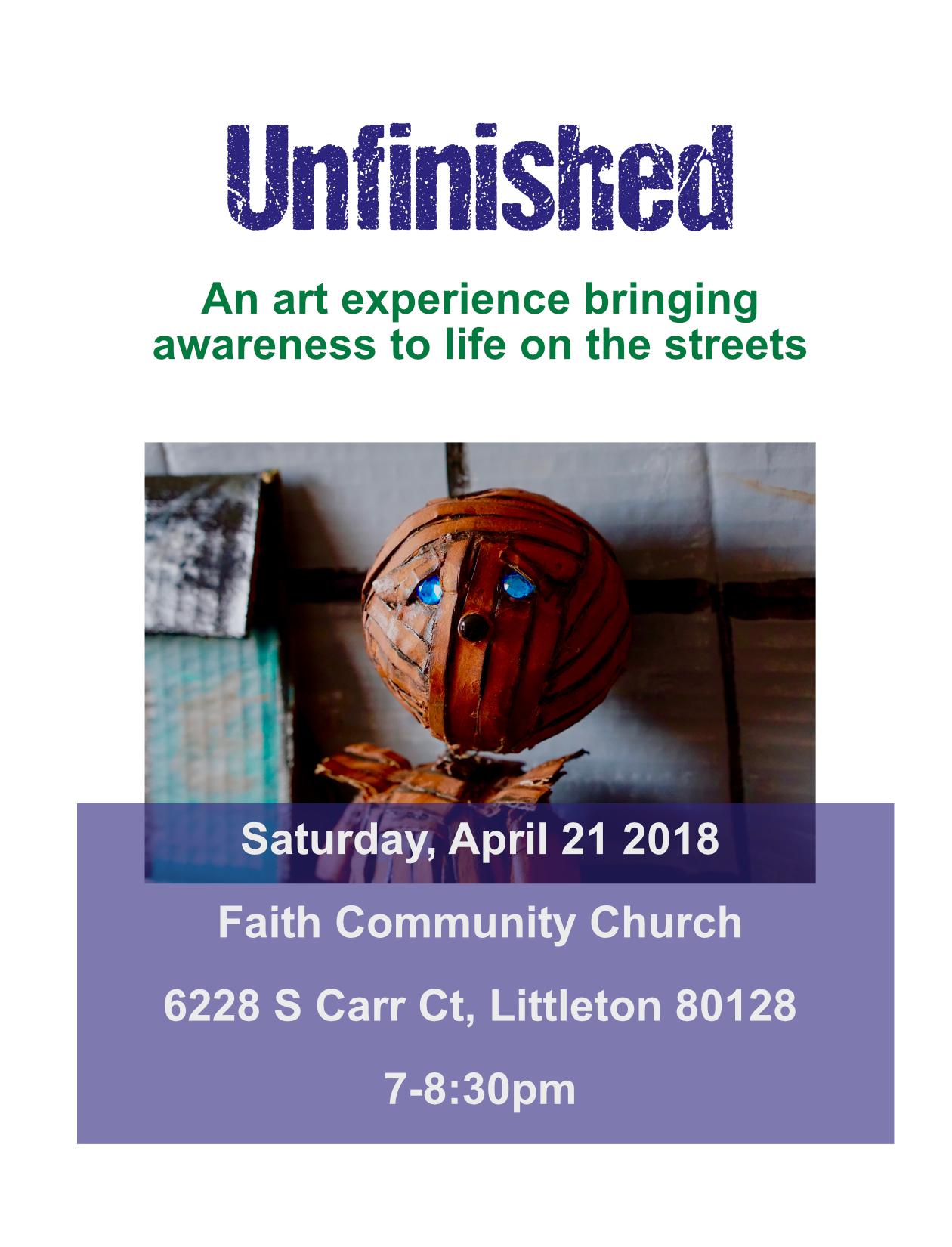Unfinished event flyer