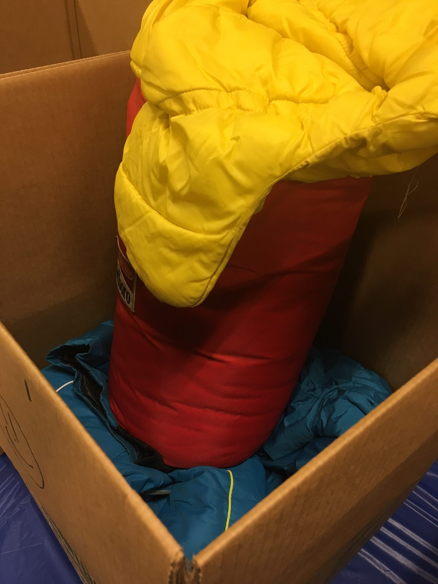 Winter Coat and Sleeping Bag donation